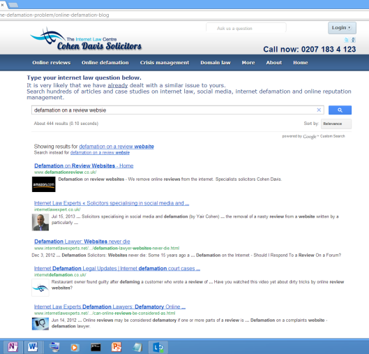 search engine for internet law and social media articles